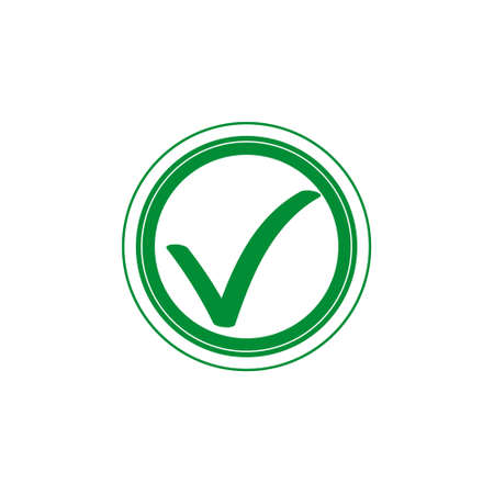 Green tick checkbox vector illustration isolated on white background eps 10