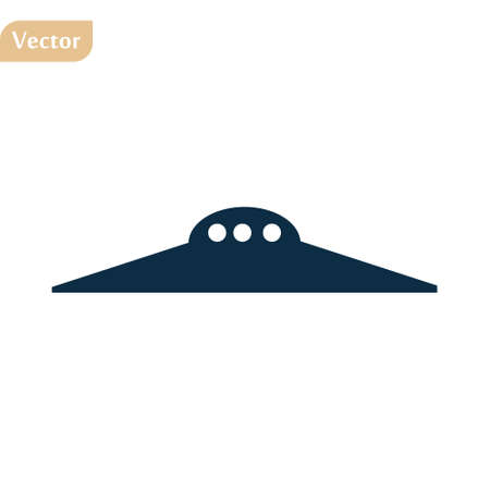 Ufo icon vector. astronomy illustration logo. spaceship symbol. Vectores