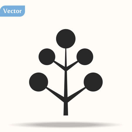 Apple tree illustration. Fruit tree symbol icon. Foto de archivo - 140335903