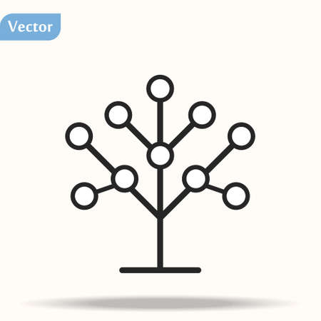 Phylogenetic, tree icon. Element of bio engineering illustration. Thin line icon for website design and development, app development.