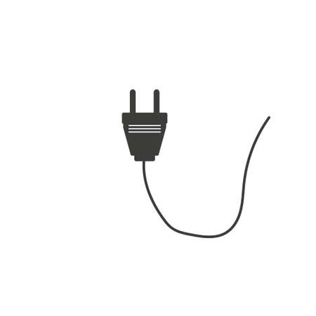 Plug icon. Power icon. Electrical icon. Silhouette flat design illustration