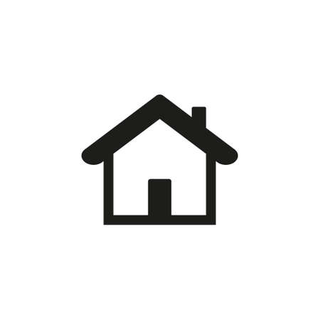 Home Icon vector. Simple flat symbol. Perfect Black pictogram illustration on white background. eps10