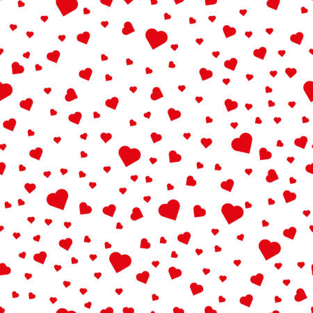 Seamless pattern from hearts on a white background. Packaging design for gift wrap. Abstract geometric modern background.