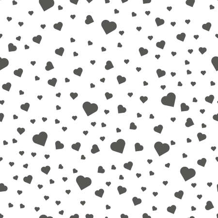 Seamless patterns with black hearts. Seamless background with hearts. Valentine s Day.
