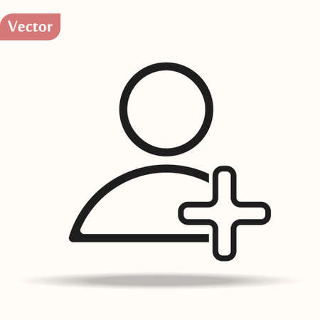 Add user vector icon for social media friend request and design eps10