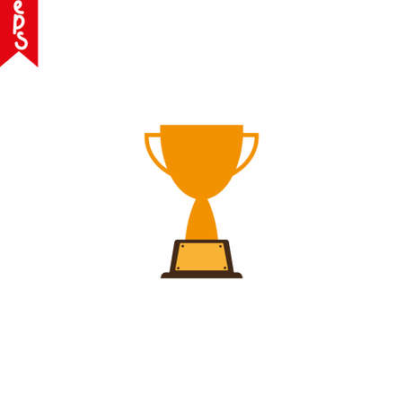 Trophy cup, award, vector icon in flat style eps10
