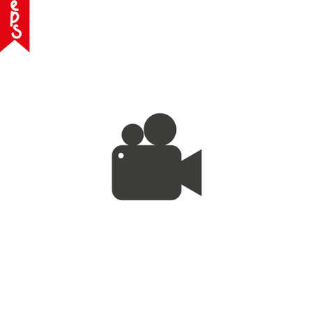 Video camera icon in trendy flat style isolated on background.
