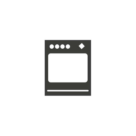 stove oven icon, vector gas stove, kitchen cooking appliance eps10