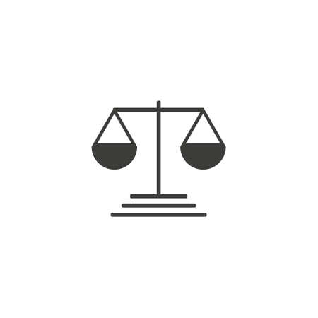 Pictograph of justice scales on whrite backround eps10