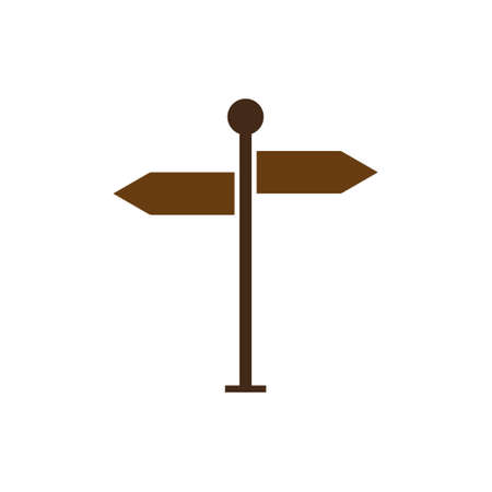 The signpost icon vector, solid illustration, pictogram isolated on white.EPS 10 Ilustrace