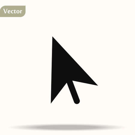 Computer mouse click pointer cursor arrow flat vector icon for apps and websites.EPS 10