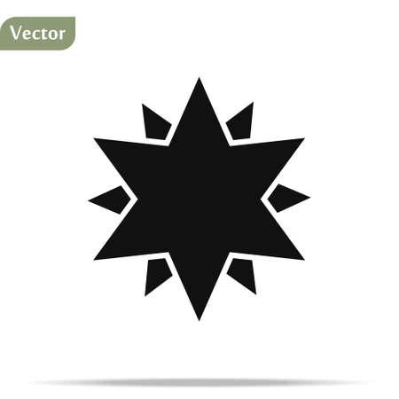 Black star shape vector illustration. Star icon. Star icon eps 10 Vecteurs