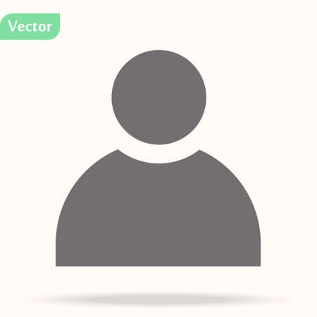Avatar icon. Vector illustration style is flat iconic symbol, black color, transparent background. Designed for web and software interfaces. eps 10