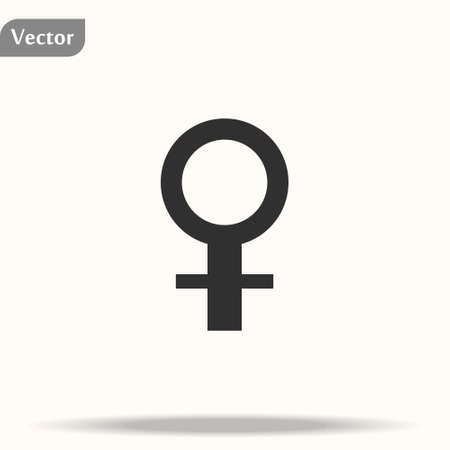 Gender symbol. Venus symbol. The symbol for a female organism or woman. Vector Format. 向量圖像