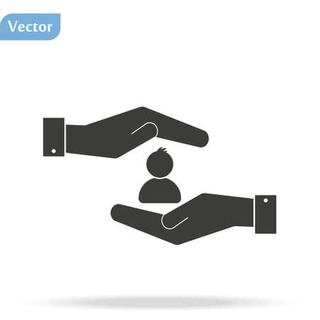 hands of the man icon, flat design best vector icon