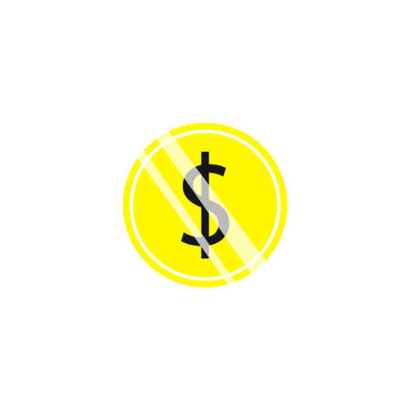 Coin icon. Simple illustration of coin vector icon for web Çizim