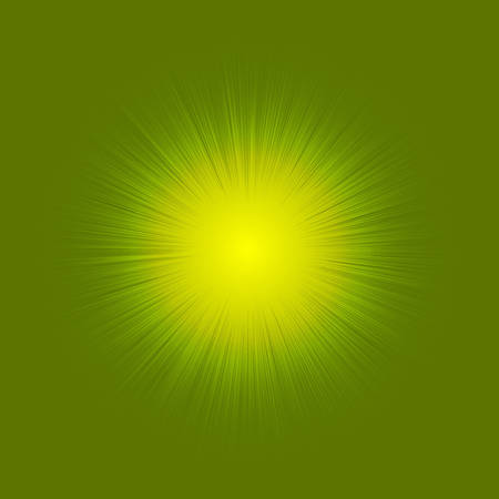 Illustration of a shining star or flare, many rays from one point.Red color bright lens flare rays light flashes leak movement for transitions on yellow background eps 10