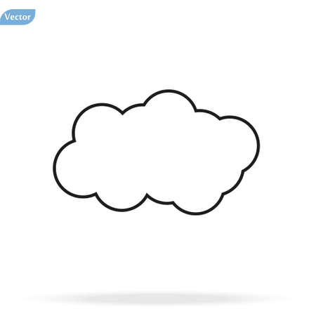 Cloud Icon, Cloud icon vector, in trendy flat style isolated on white background. Cloud icon image, Cloud icon illustration