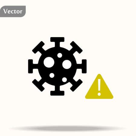 Coronavirus COVID-19 symbol. Icon. Prevention of covid. Global pandemic alert. Isolated vector illustration. eps10 Ilustração
