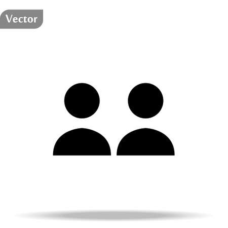 Two person icon, Social icon isolated on white background. Vector art. eps10