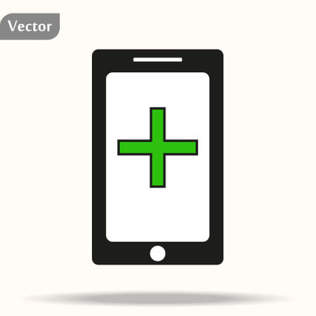tablet phone medical record check up access icon design vector illustration eps 10