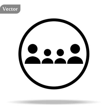 People Icon in trendy flat style isolated on white background. Crowd sign. Persons symbol for your web site design, logo, app, UI. Vector illustration,