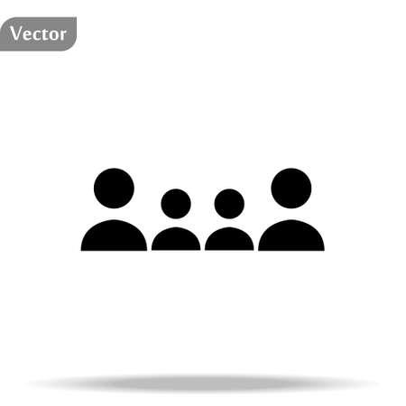Team icon isolated on white background eps 10 Ilustração