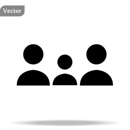 People Icon. Persons symbol for your infographics web site design People IconVector illustration People Icon Çizim