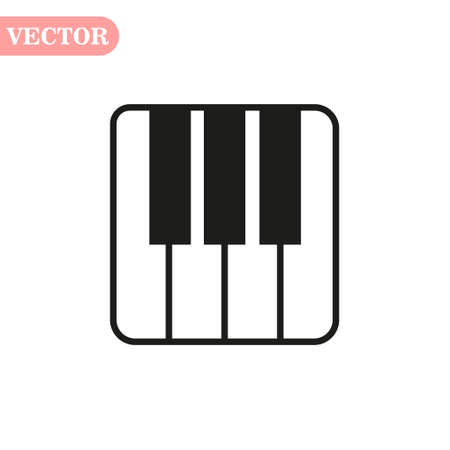 Piano keys isolated on white background. Vector art. eps10 Çizim