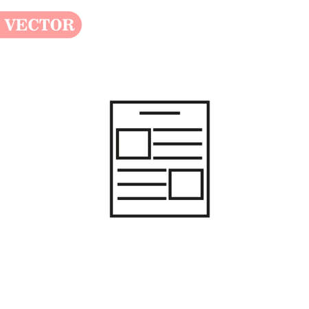 Simple contract line icon. Stroke pictogram. Vector illustration isolated on a white background. Premium quality symbol. Vector sign for mobile app and web sites. eps10