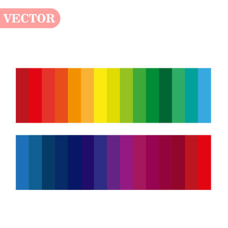 rainbow color abstract geometric pattern texture background vector Çizim