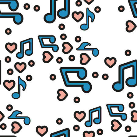 Music notes, song, melody or tune flat vector icon for musical apps and websites. eps 10 Vektorgrafik