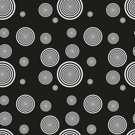 Abstract seamless background made of set of rings, vector illustration, eps10
