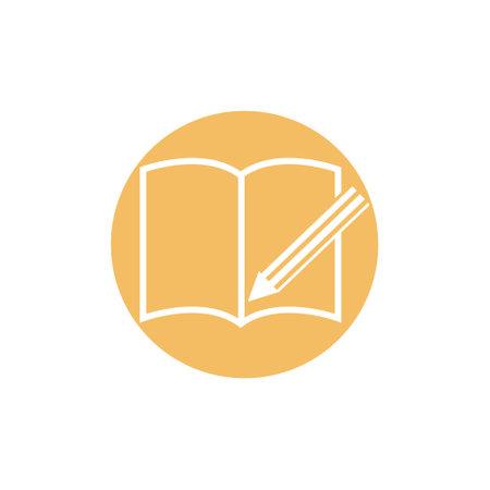Book icon isolated on white background. Ilustração