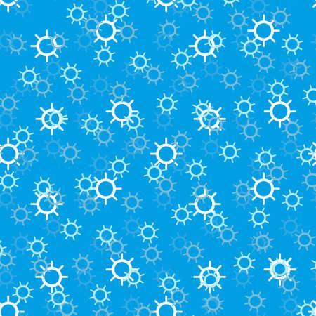 Seamless pattern with helms. Vector illustration. Soft colors. Ilustração