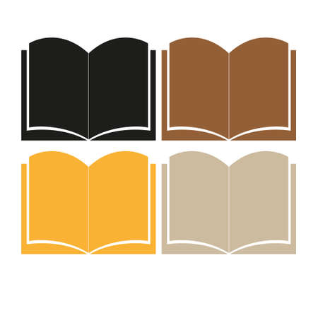 Books icon isolated on white background.