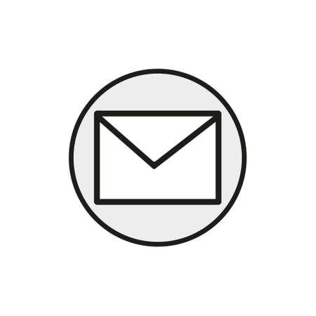 Vector style illustration of classic shape envelope isolated on white background Ilustração