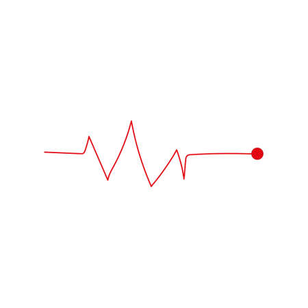 Heart beat monitor pulse line art icon for medical apps and websites isolated on white background  Vector