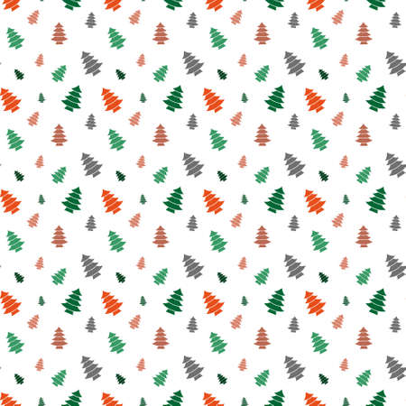 colorful christmas seamless pattern with christmas tree design