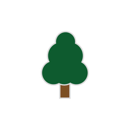 tree icon isolated on white background.Green tree.Ecology concept.Design for web clipart. Ilustração
