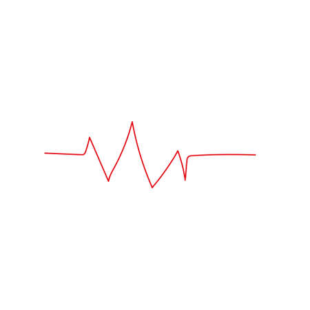 Heart beat monitor pulse line art icon for medical apps and websites isolated on white background EPS Vector Ilustração