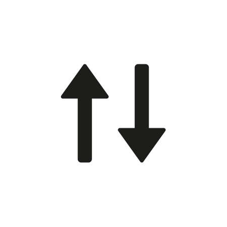 arrow icon, vector best flat icon. Sort icon vector isolated on white background, logo concept of Sort sign on transparent background, filled black symbol