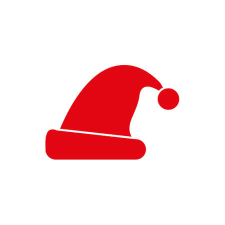 Hat Santa Claus, Isolated On White Background, Vector Illustration Ilustração