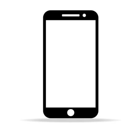 phone vector with blank white screen isolated on white background. Ilustração
