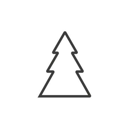 Christmas tree icon on white. flat icon for apps and websites Ilustração