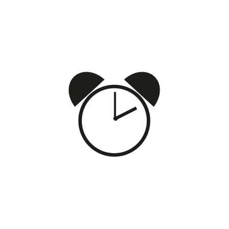 Alarm Clock Vector Icon On White Backround Çizim