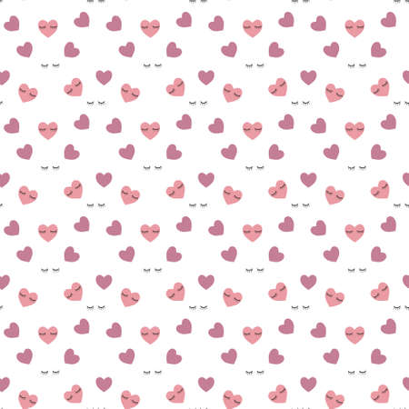Hearts seamless pattern background, can be used for celebrations, wedding invitation, mothers day and valentines day