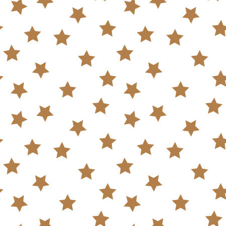 Geometric seamless pattern. Monochrome abstract vector texture with scattered stars