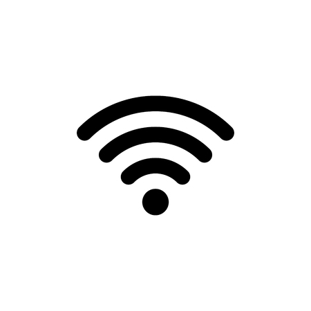 Wifi connection signal vector icon Illustration