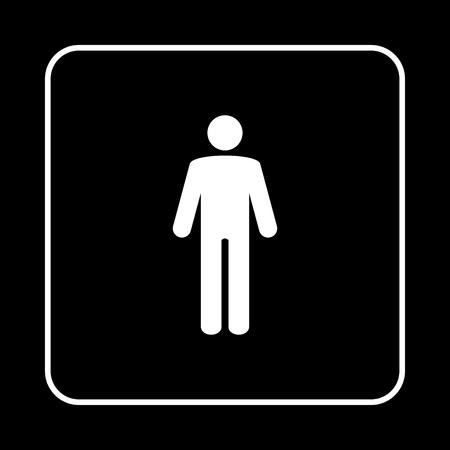 Toilet sign. WC men Stock Illustratie